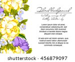 vintage delicate invitation... | Shutterstock .eps vector #456879097