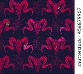 vector seamless pattern. skull...   Shutterstock .eps vector #456879907