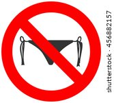 forbidden sign with bikini icon ... | Shutterstock .eps vector #456882157