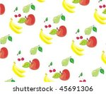 vector  background with fruit... | Shutterstock .eps vector #45691306