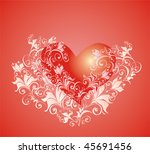 valentines day background with... | Shutterstock .eps vector #45691456