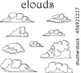 air clouds on white background  ... | Shutterstock .eps vector #456921217