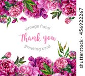 vintage watercolor floral... | Shutterstock . vector #456922267