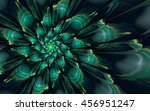 Abstract Fractal  Glossy Green...