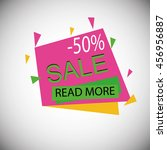 sale banner template and... | Shutterstock .eps vector #456956887