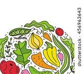 salad. vector illustration. | Shutterstock .eps vector #456963643