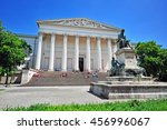 facade of national museum of... | Shutterstock . vector #456996067