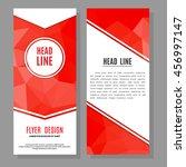 vector brochure flyer design... | Shutterstock .eps vector #456997147