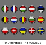 flags of european countries   Shutterstock .eps vector #457003873