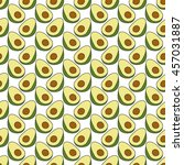 seamless doodle pattern with... | Shutterstock .eps vector #457031887