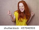 single gorgeous young red... | Shutterstock . vector #457040503