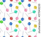 sketches lollipop seamless...   Shutterstock .eps vector #457043233