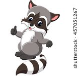 cute raccoon cartoon | Shutterstock .eps vector #457051267