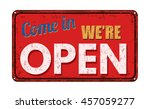 come in we're open on red... | Shutterstock .eps vector #457059277