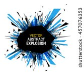 abstract explosion banner... | Shutterstock .eps vector #457076353