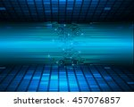 blue abstract cyber future... | Shutterstock .eps vector #457076857