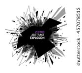abstract explosion banner.... | Shutterstock .eps vector #457078513