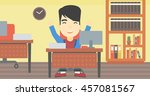 an asian  successful... | Shutterstock .eps vector #457081567