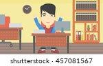 an asian  successful... | Shutterstock .eps vector #457081567