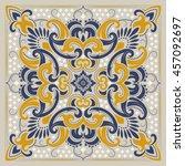 paisley bandana print | Shutterstock .eps vector #457092697