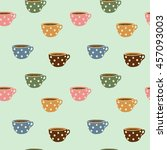 seamless pattern of coffee and...   Shutterstock .eps vector #457093003