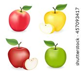 apples  pink lady  granny smith ... | Shutterstock .eps vector #457093417
