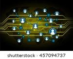 social media network concept.... | Shutterstock .eps vector #457094737