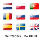 glossy  flags. set three of... | Shutterstock . vector #45710968