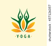 vector yoga spa icons and... | Shutterstock .eps vector #457126357