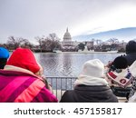 The Capitol Building on Inauguration Day from Across the Reflecting Pool
