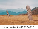 amazing beautiful mountain... | Shutterstock . vector #457166713