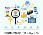 vector search business... | Shutterstock .eps vector #457167373