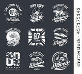 vintage american old grunge... | Shutterstock .eps vector #457175143