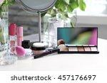 cosmetic set on white dressing... | Shutterstock . vector #457176697
