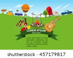 tourism  recreation  camping ... | Shutterstock .eps vector #457179817