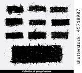 grunge banners. vector. | Shutterstock .eps vector #45718987