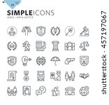 modern thin line icons of law... | Shutterstock .eps vector #457197067