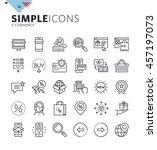 modern thin line e commerce web ... | Shutterstock .eps vector #457197073