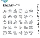 modern thin line icons of... | Shutterstock .eps vector #457197097