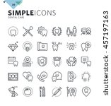 modern thin line icons of... | Shutterstock .eps vector #457197163