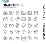 modern thin line icons of... | Shutterstock .eps vector #457197193