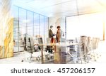 teamwork concept. two... | Shutterstock . vector #457206157