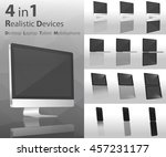modern devices 4 in 1 mock up... | Shutterstock .eps vector #457231177