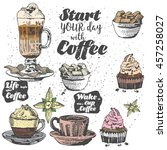 coffee. vector illustration ... | Shutterstock .eps vector #457258027