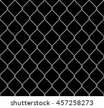 wired metallic fence seamless... | Shutterstock .eps vector #457258273