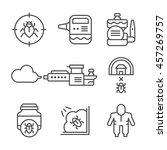 set line icons of disinfestation | Shutterstock .eps vector #457269757