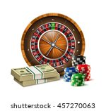 casino elements roulette chips... | Shutterstock .eps vector #457270063