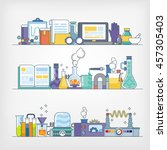 vector of a laboratory | Shutterstock .eps vector #457305403