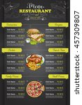 restaurant vertical color menu | Shutterstock .eps vector #457309807