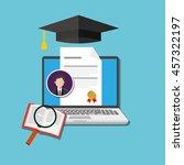 online degree education | Shutterstock .eps vector #457322197